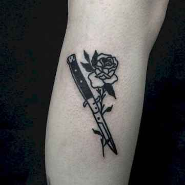 20 Traditional Rose Outline Tattoo Designs Ideas