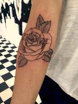 21 Traditional Rose Outline Tattoo Designs Ideas