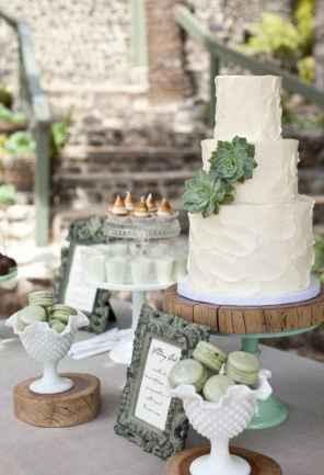 26 Green Wedding Cake Inspiration with Classy Design
