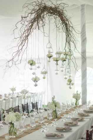 28 Rustic Wedding Suspended Flowers Decor Ideas