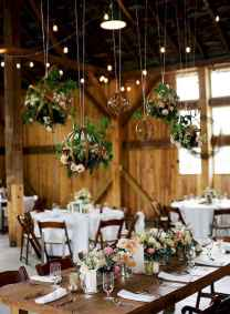 29 Rustic Wedding Suspended Flowers Decor Ideas