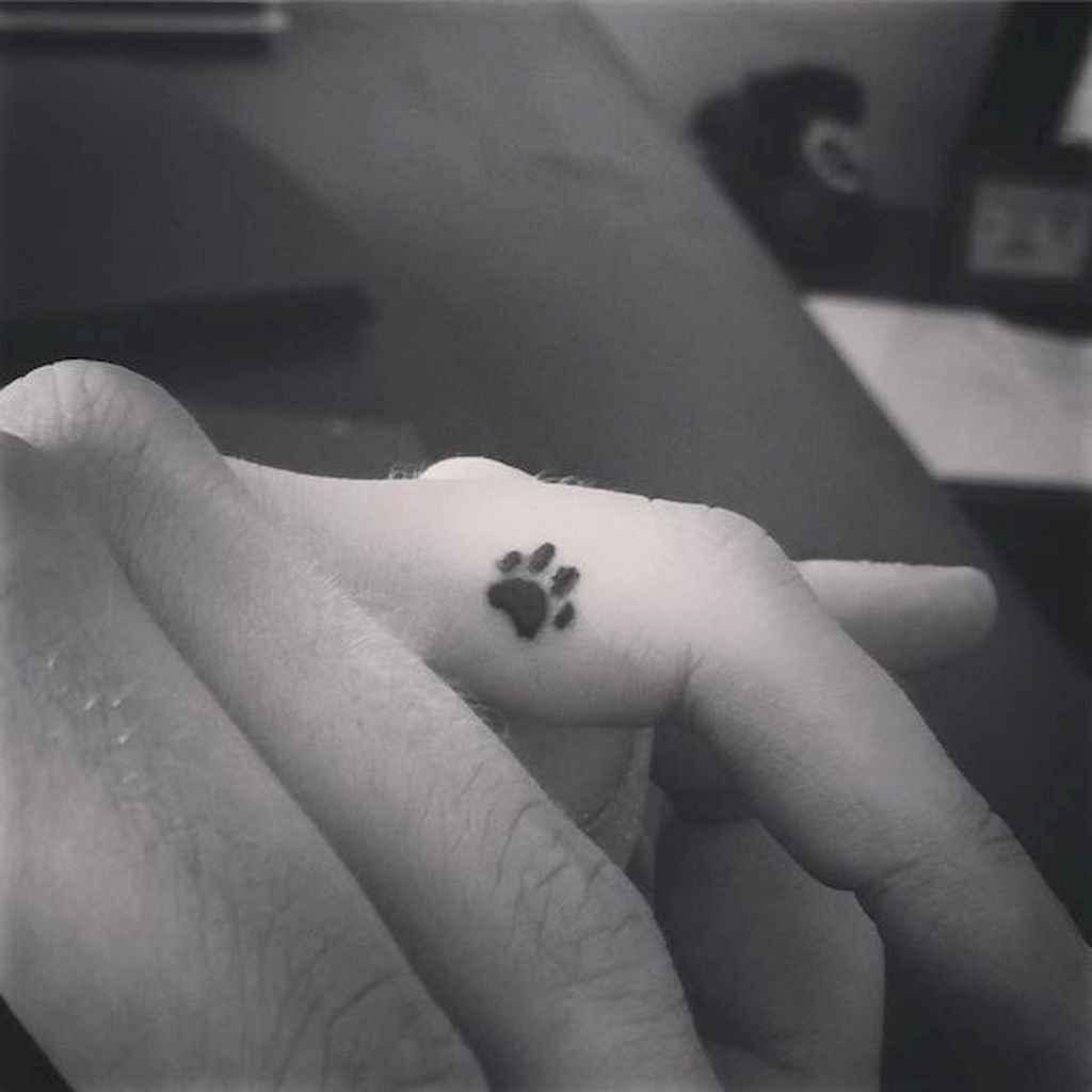 30 Cute Paw Print Tattoo Designs Ideas You Must Love
