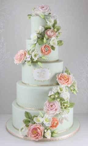 39 Green Wedding Cake Inspiration with Classy Design