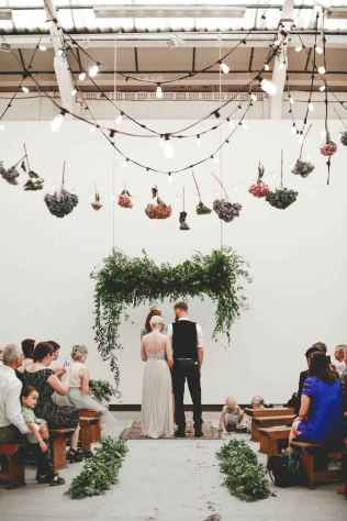 41 Rustic Wedding Suspended Flowers Decor Ideas