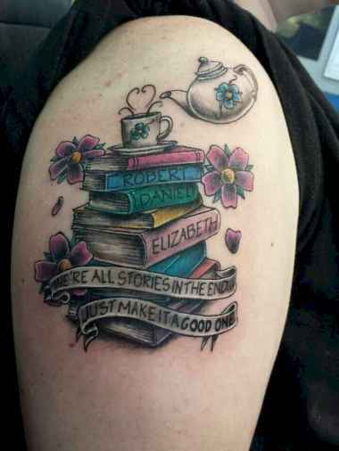42 Awesome Book Tattoo Designs Ideas For Bookworms
