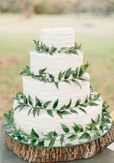 43 Green Wedding Cake Inspiration with Classy Design