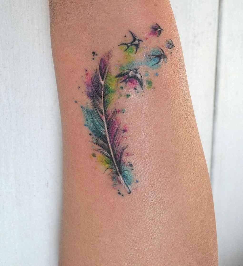58 Most Beautiful Watercolor Tattoos Art Ideas