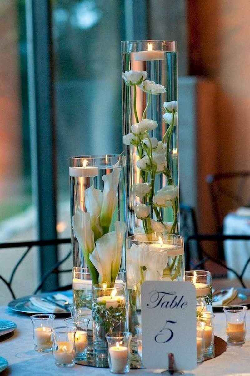61 Romantic White Flower Centerpiece Decor Ideas