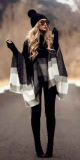 03 Trending Winter Outfits Oversized Poncho Outfit Ideas
