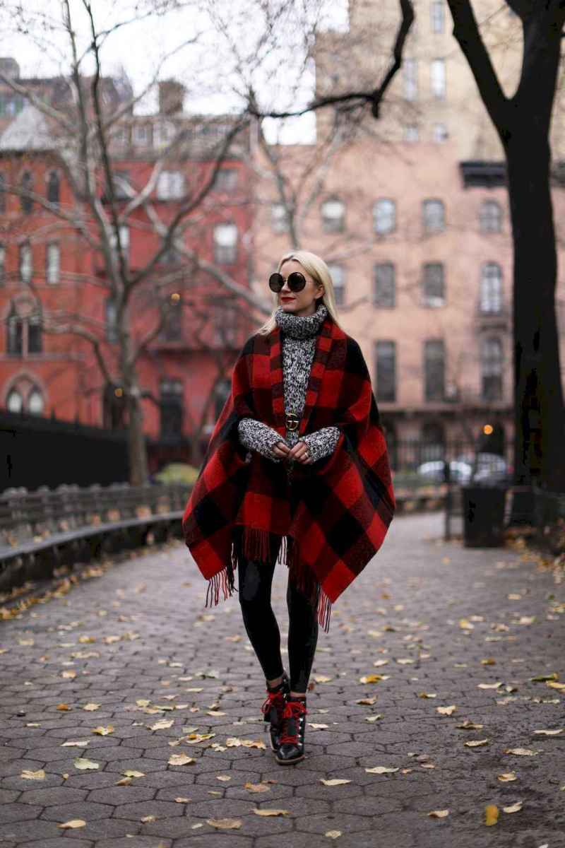 22 Trending Winter Outfits Oversized Poncho Outfit Ideas