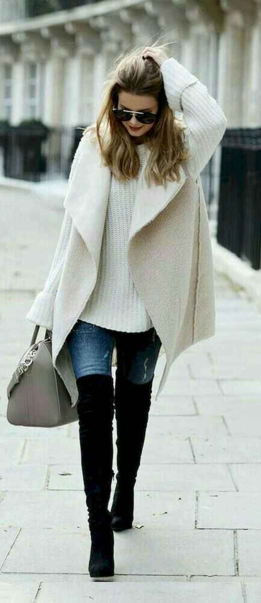 25 Trending Winter Outfits Oversized Poncho Outfit Ideas