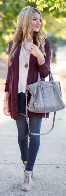 26 Beautiful Fall Outfits Ideas With Cardigan