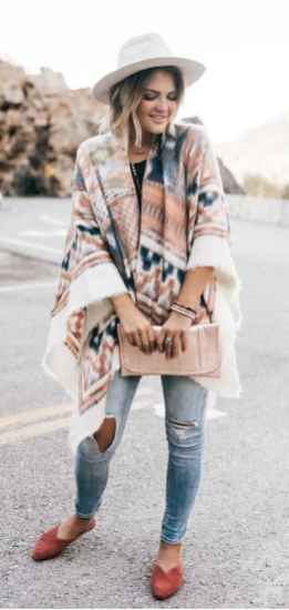 27 Trending Winter Outfits Oversized Poncho Outfit Ideas