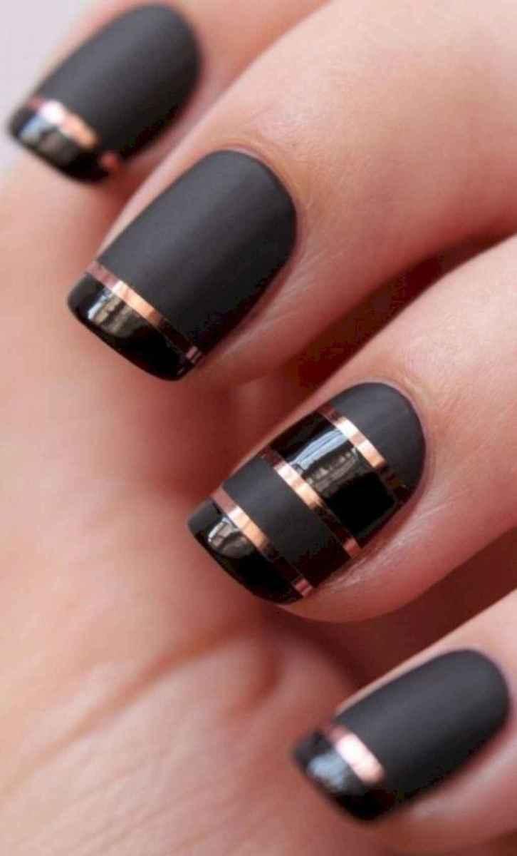 45 Elegant Black Nail Art Designs that You'll Love