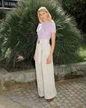 01 Elegant Beige Linen Pants Outfit Ideas