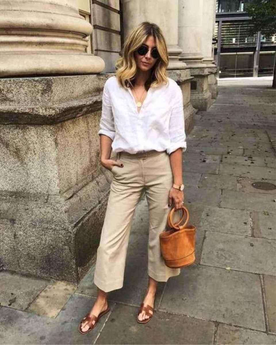 04 Elegant Beige Linen Pants Outfit Ideas