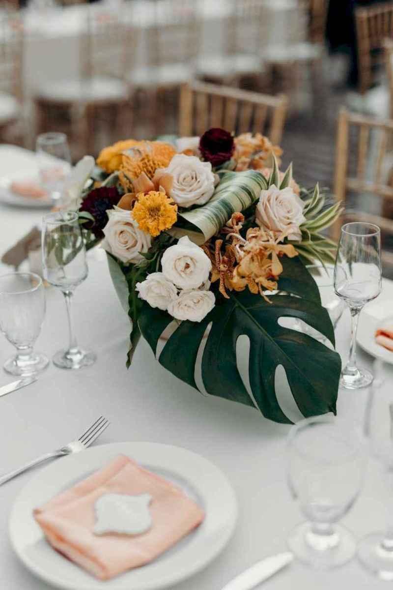 04 Romantic Tropical Wedding Ideas Reception Centerpiece