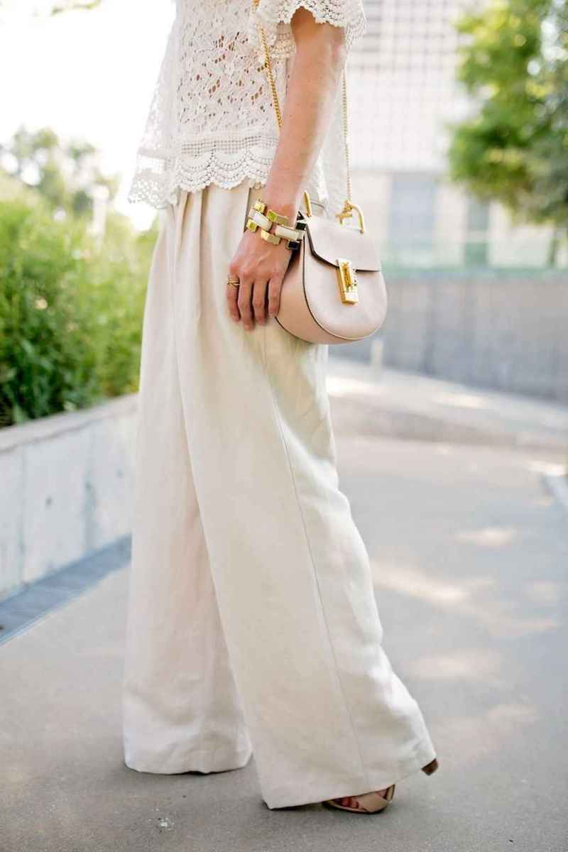 05 Summer White Linen Pants Outfit for Women