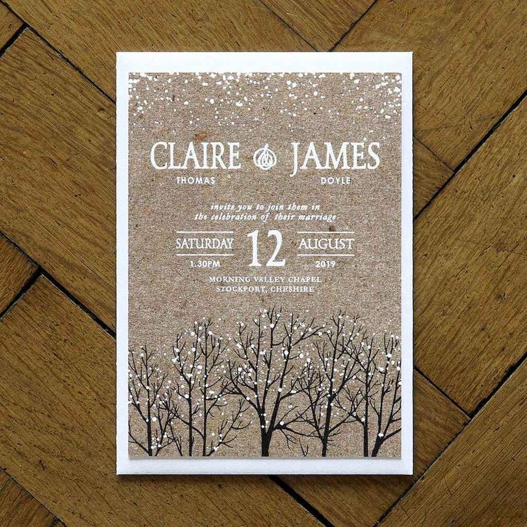 06 Elegant Christmas Wedding Invitations Ideas