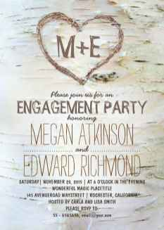 10 Inexpensive Engagement Party Invitations Ideas