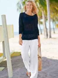 10 Summer White Linen Pants Outfit for Women