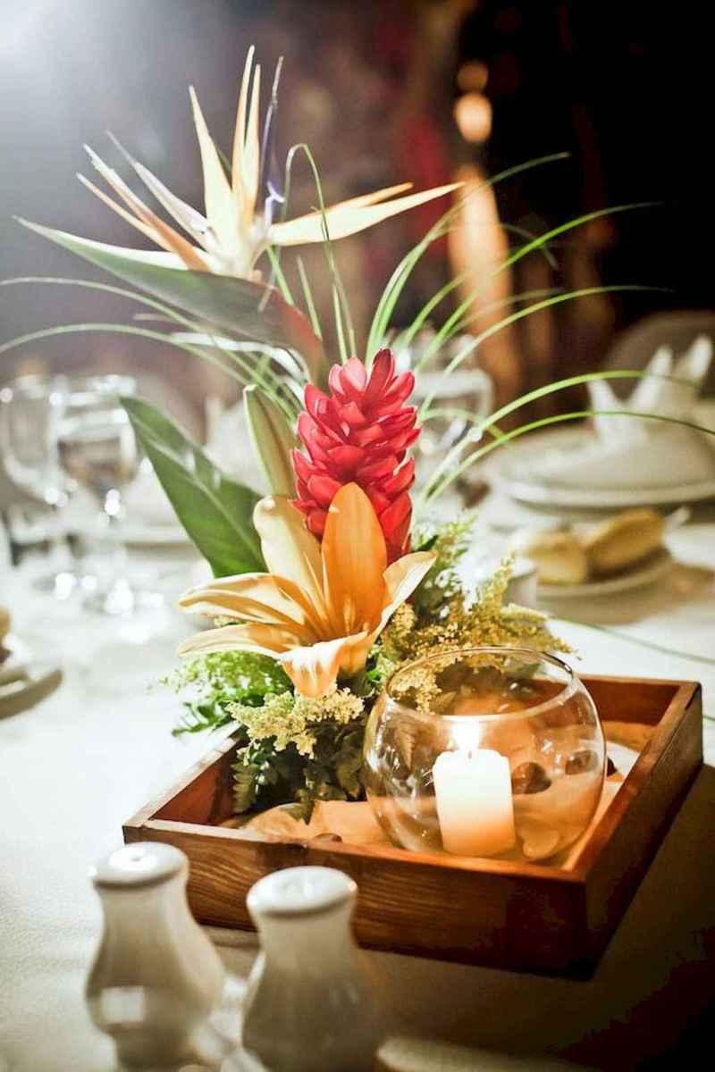 100 Romantic Tropical Wedding Ideas Reception Centerpiece