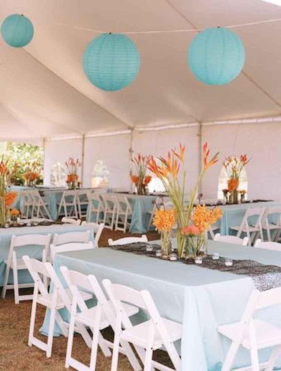 112 Romantic Tropical Wedding Ideas Reception Centerpiece