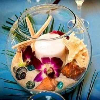 114 Romantic Tropical Wedding Ideas Reception Centerpiece