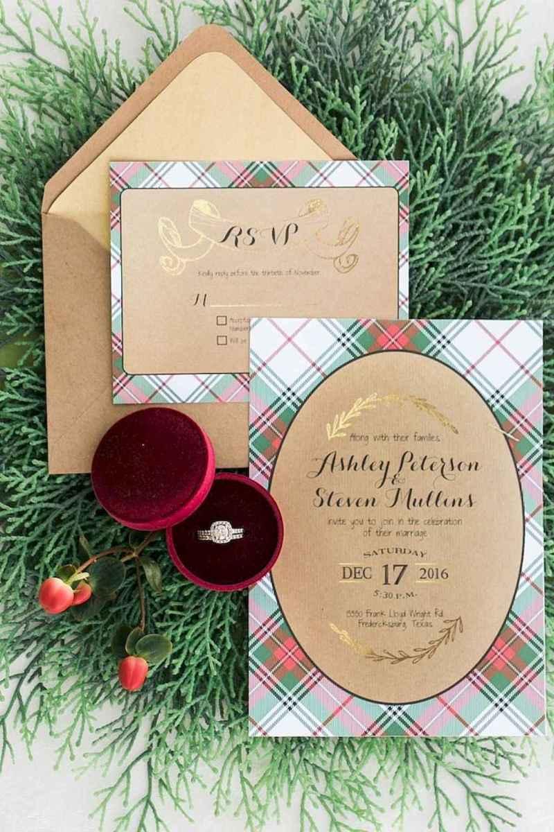 14 Elegant Christmas Wedding Invitations Ideas