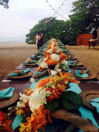 16 Romantic Tropical Wedding Ideas Reception Centerpiece