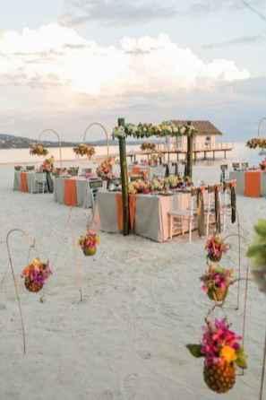 17 Romantic Tropical Wedding Ideas Reception Centerpiece