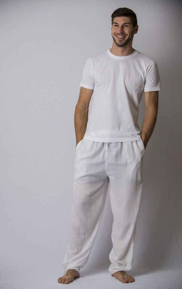 17 Summer White Linen Pants Outfit for Women