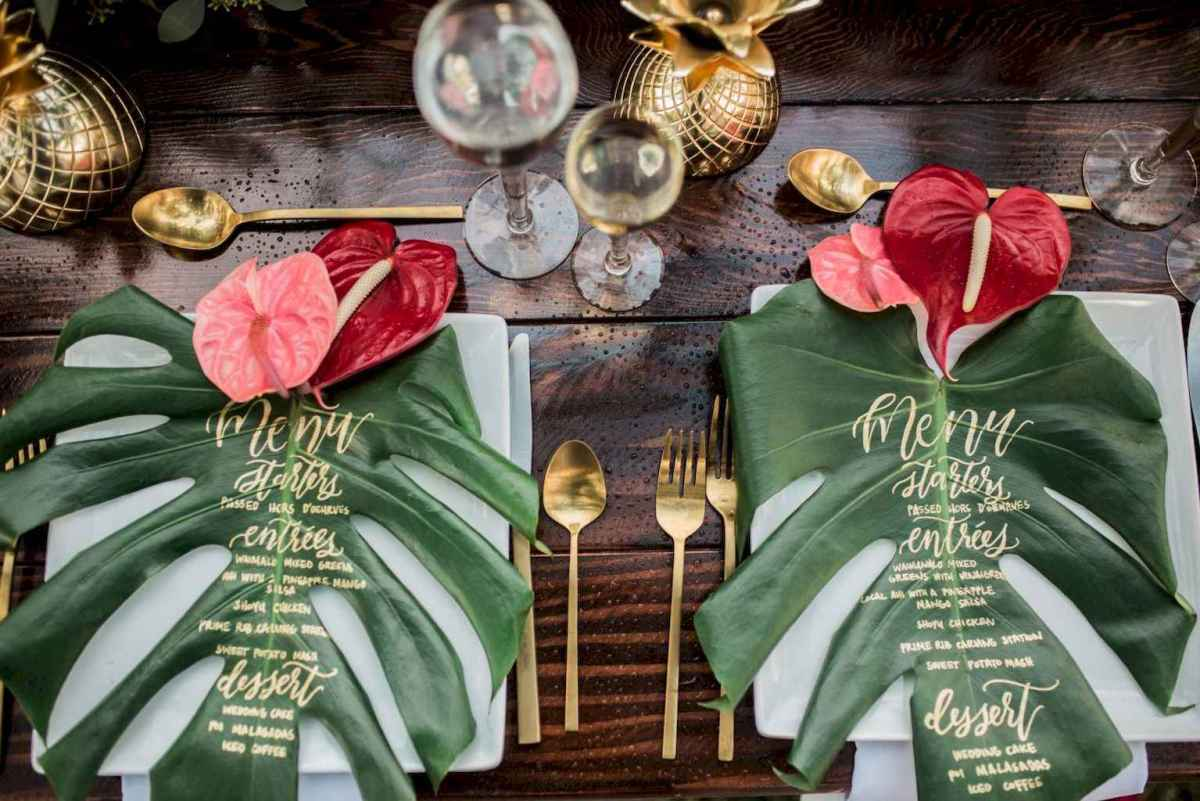 18 Romantic Tropical Wedding Ideas Reception Centerpiece