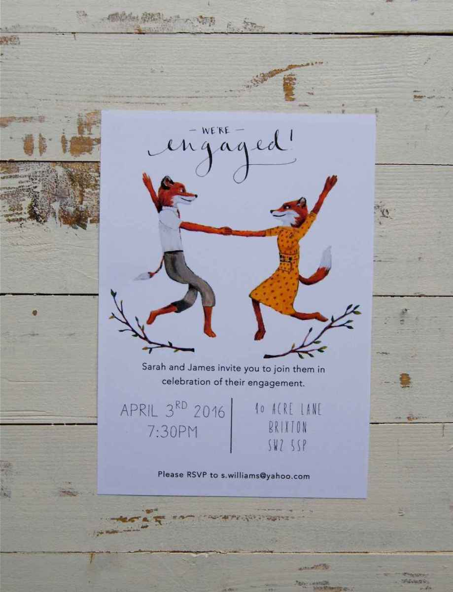 20 Inexpensive Engagement Party Invitations Ideas
