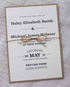 22 Simple Inexpensive Wedding Invitations Ideas