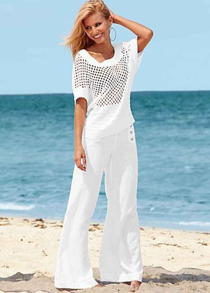 25 Summer White Linen Pants Outfit for Women