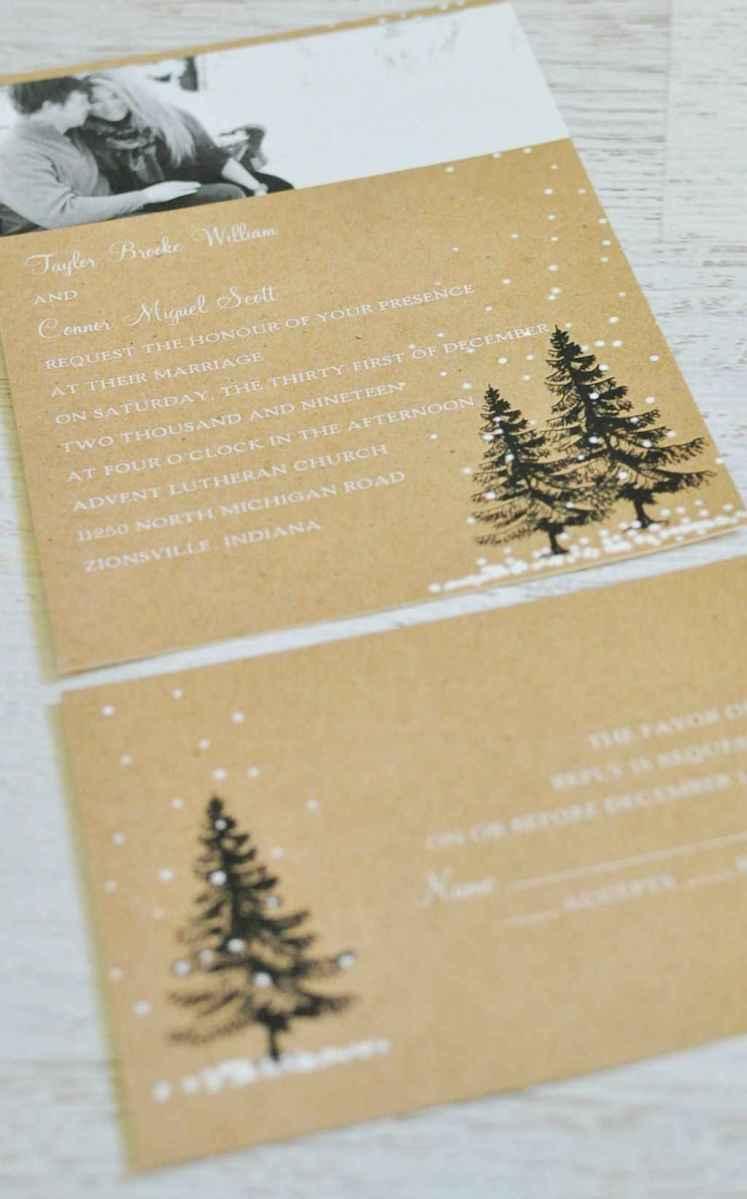 26 Elegant Christmas Wedding Invitations Ideas