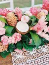 27 Romantic Tropical Wedding Ideas Reception Centerpiece