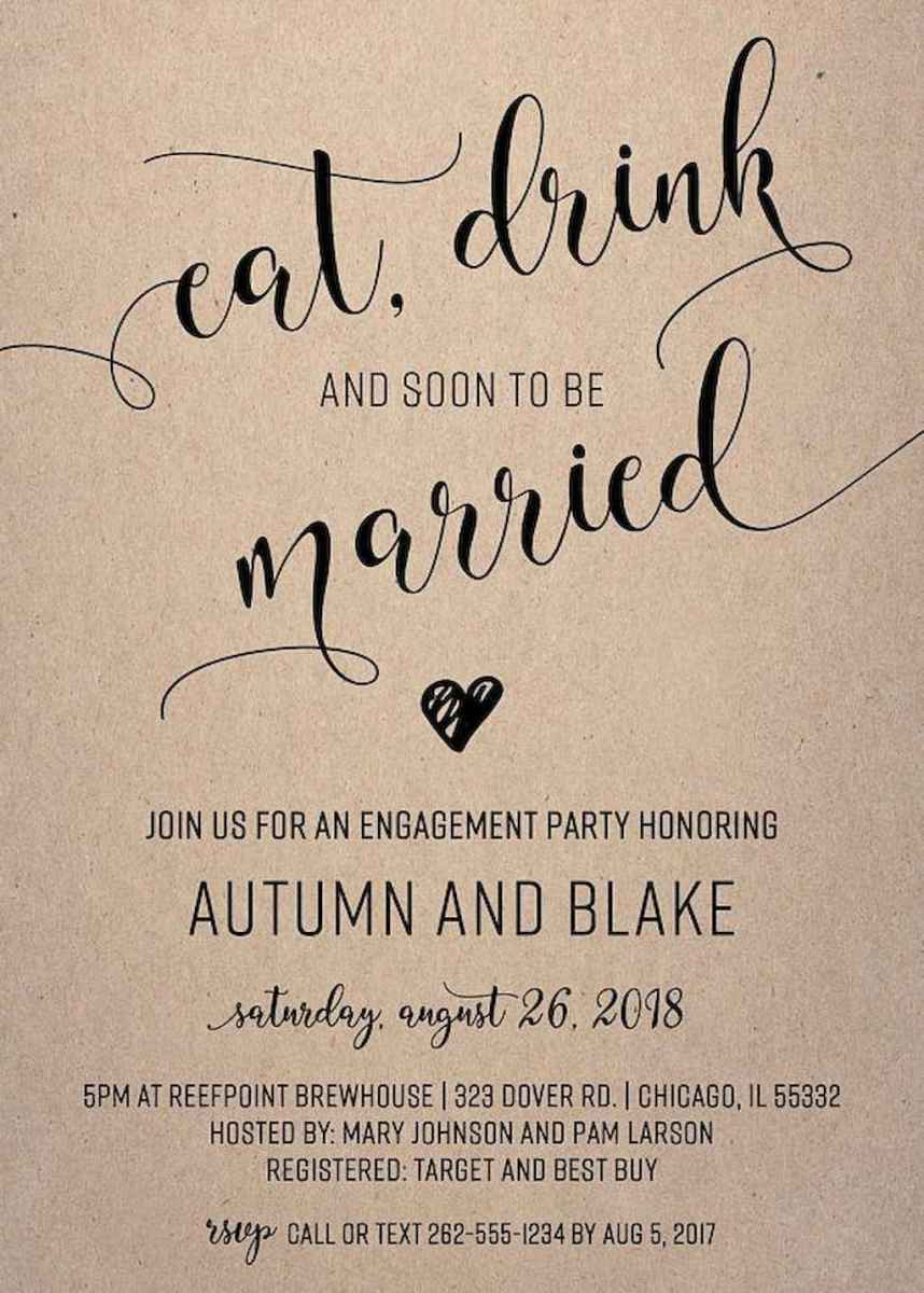 30 Inexpensive Engagement Party Invitations Ideas
