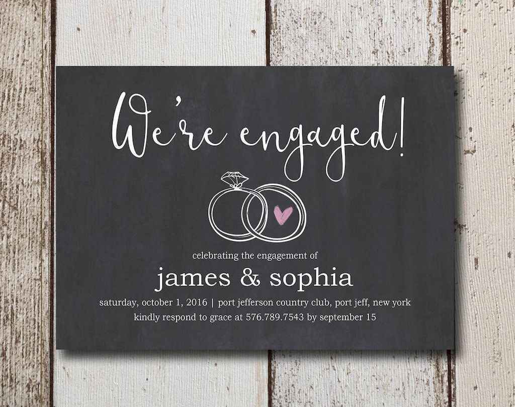 32 Inexpensive Engagement Party Invitations Ideas