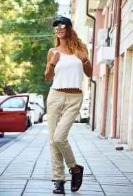 34 Elegant Beige Linen Pants Outfit Ideas