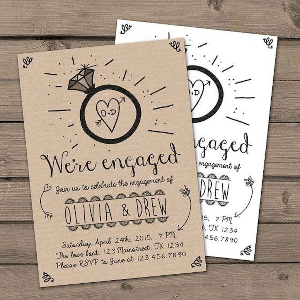 40 Inexpensive Engagement Party Invitations Ideas