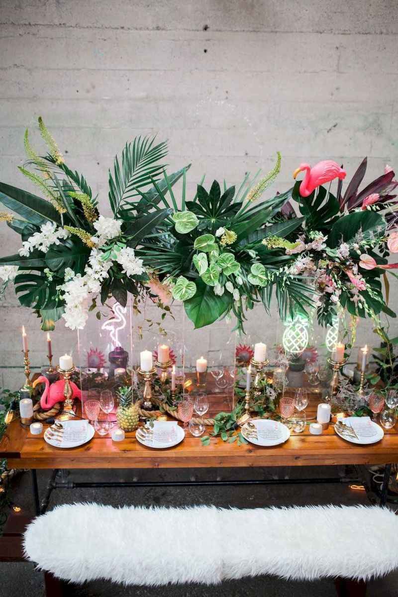 40 Romantic Tropical Wedding Ideas Reception Centerpiece