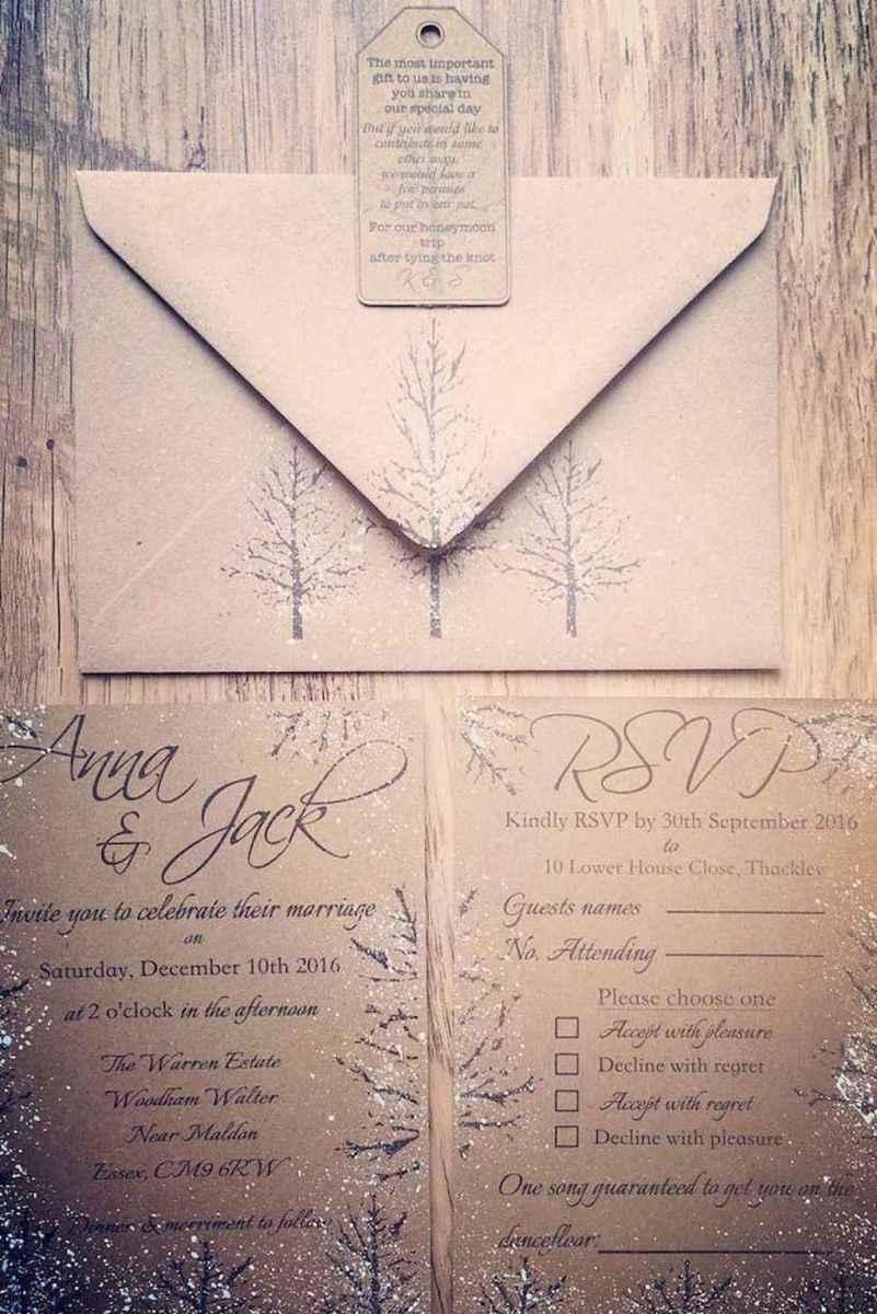 41 Elegant Christmas Wedding Invitations Ideas