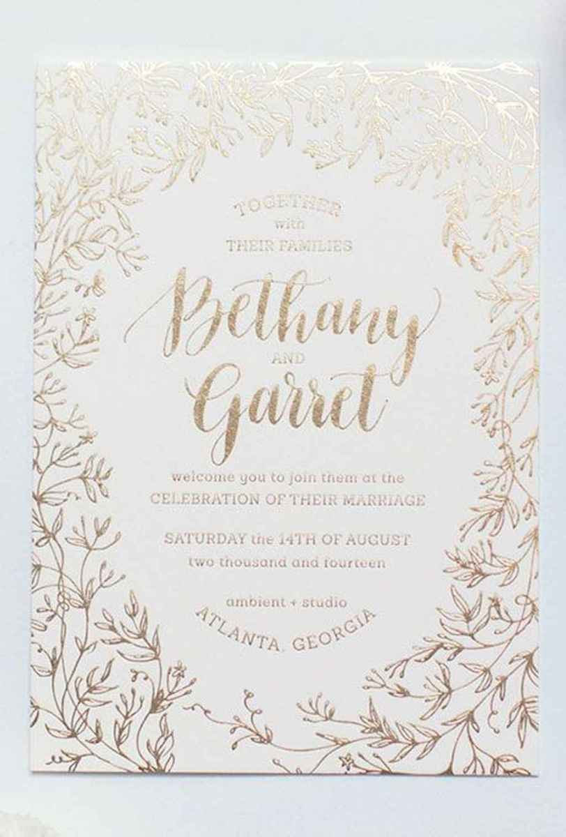 42 Elegant Christmas Wedding Invitations Ideas