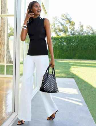 42 Summer White Linen Pants Outfit for Women
