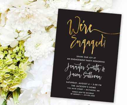 43 Inexpensive Engagement Party Invitations Ideas