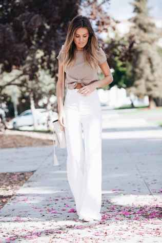 44 Summer White Linen Pants Outfit for Women