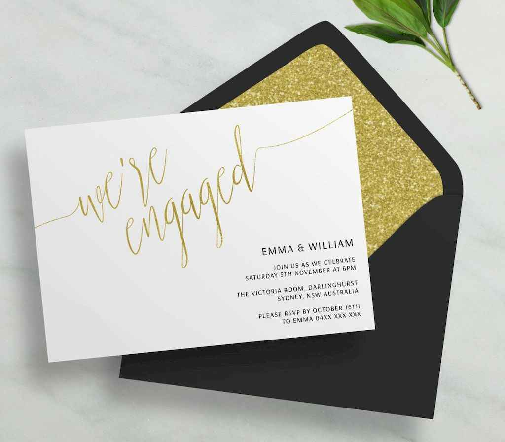 45 Inexpensive Engagement Party Invitations Ideas