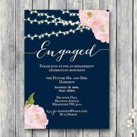 47 Inexpensive Engagement Party Invitations Ideas
